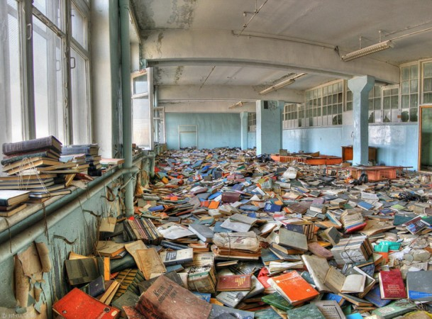 You have spent the day exploring an abandoned library. As you get ready to leave, you hear one of the books call out for help….
