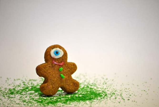 Tell the story of the gingerbread monster.