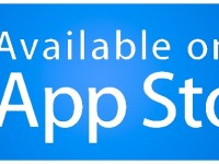 App Store available blue