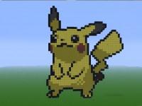 Pikachu-minecraft-pixel-art