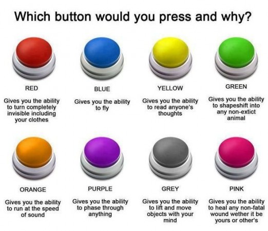 Which button would you push and why?
