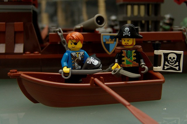 Make up a story about fighting off the pirates.