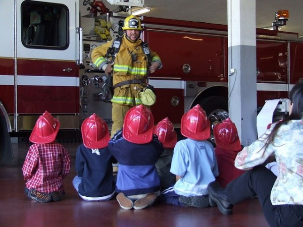 If you had to teach a younger child about fire safety, what would you say?