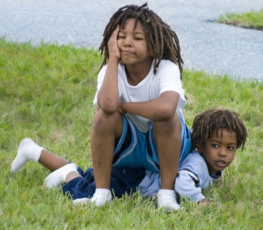 If you have a friend over and a younger sibling or neighbor is bothering you, what can you do about it without being mean?