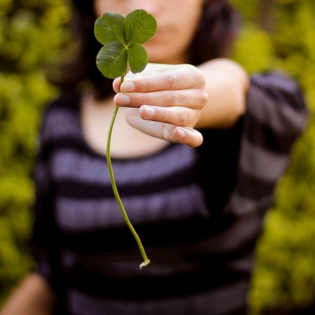 Four-leaf clovers are supposed to be lucky. If you had one, what luck would it bring to you?