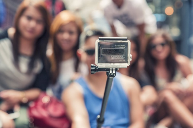 Convince your teacher to either buy or avoid buying a selfie stick.