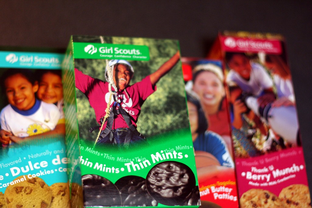 Write the script for a radio commercial selling your favorite Girl Scout cookie.