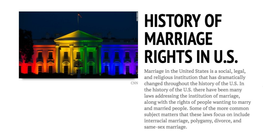 History timeline same sex marriage