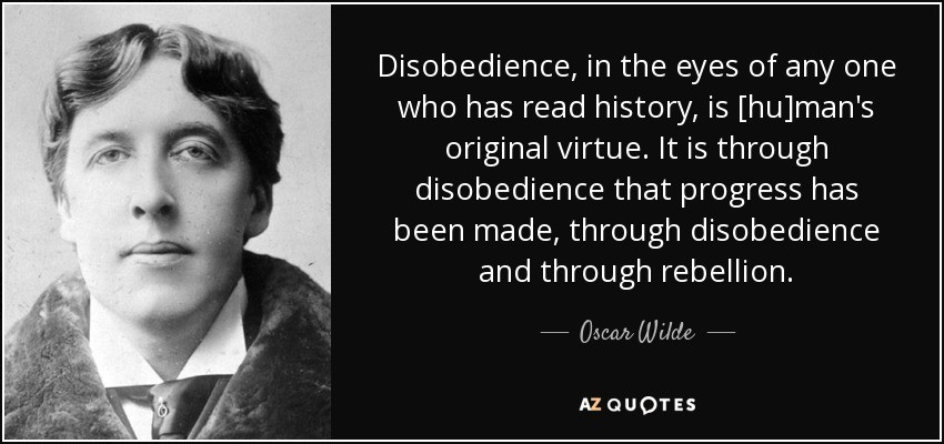 Write About Disobedience