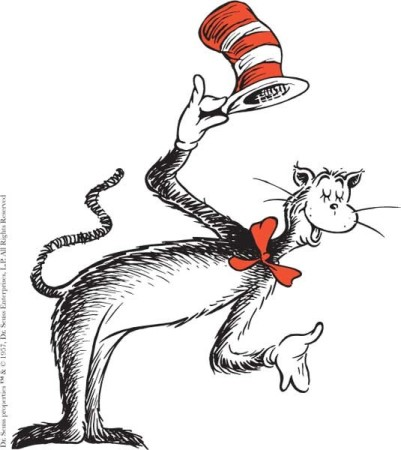 The Cat in the Hat is going to teach your class today. Tell the story of what happens.