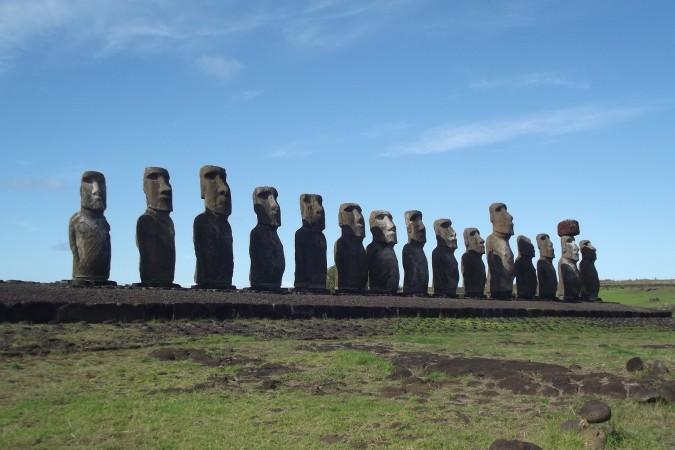 Write your own theory as to how these statues appeared on Easter Island.
