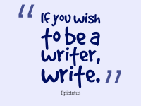writer quote.if you wish to be
