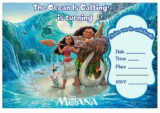Eloquent image pertaining to printable moana invitations