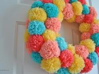 Make-An-Easy-Colorful-Pom-Pom-Wreath-for-Spring-4