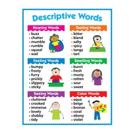 sensory words chart
