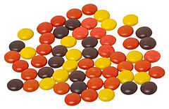 Compare and Contrast:  Skittles vs Reese's Pieces